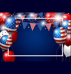 usa balloon design of american flag with firework vector image vector image