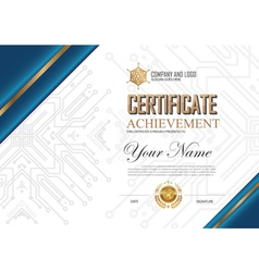 01CERTIFICATE2017VT vector image vector image