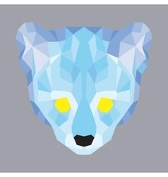 Blue low poly ocelot vector image
