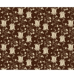 Tulips flowers texture pattern vector