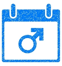 Mars male symbol calendar day grainy texture icon vector