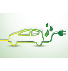electric car vector image