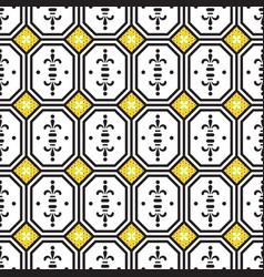 Ceramic tiles mediterranean seamless pattern vector