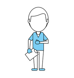 Medical doctor profession help vector