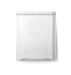 White paper sachet bag vector