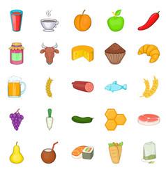 Dose icons set cartoon style vector