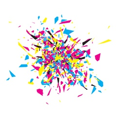 Cmyk abstract explosion vector