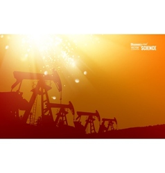 Oil pump background vector