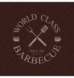 World class barbecue label stamp design element vector