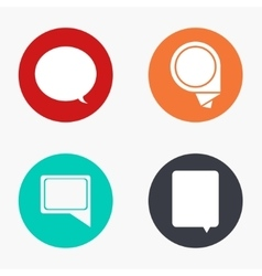 Modern bubble speech colorful icons set vector