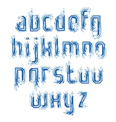 Lowercase doodle letters drawn with ink brush art vector