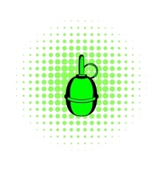 Hand grenade comics icon vector