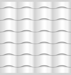 White seamless wavy pattern paper texture vector