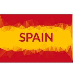 Geometric triangle background in spain flag vector