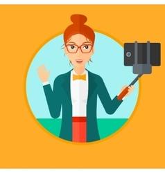 Woman making selfie vector