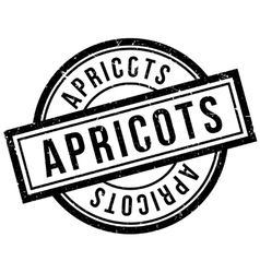 Apricots rubber stamp vector image