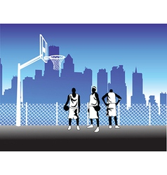 Basketballers vector image