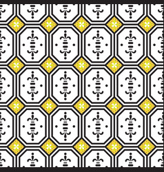 ceramic tiles mediterranean seamless pattern vector image