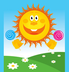 Cheerful sun vector