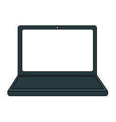 Color graphic laptop computer tech device vector