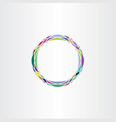 Colorful icon design abstract circle logo vector