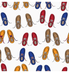 Colourful background pattern of shoes vector