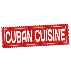 Cuban cuisine grunge rubber stamp vector