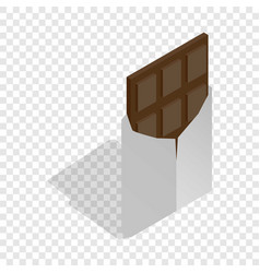 dark chocolate isometric icon vector image