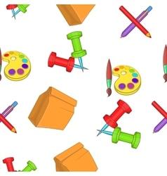 Education pattern cartoon style vector