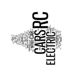 Electric rc car text background word cloud concept vector