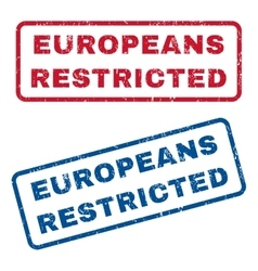 Europeans Restricted Rubber Stamps vector image vector image