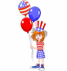 Fourth of july girl vector