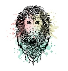 Graphic monkey abstract design vector
