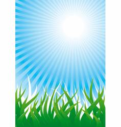 grass and sun vector image