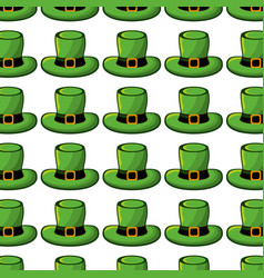 Green hat accessory st patrick background vector