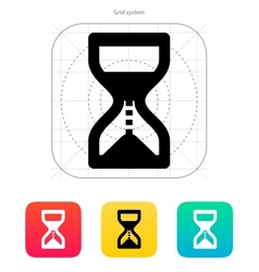 Hourglass is ticking icon vector image vector image