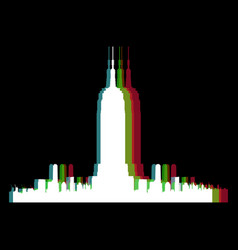 Isolated new york cityscape vector