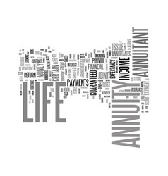 Life annuity yes or no text background word cloud vector