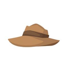men hat costume cloth ribbon fashion vector image vector image