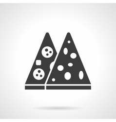 Pizza menu glyph style icon vector