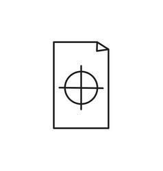register document icon vector image