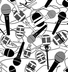 Seamless pattern of microphones vector