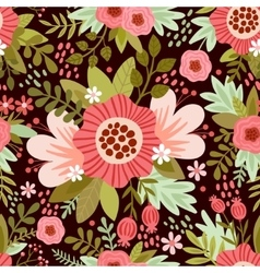 seamless with flowers vector image vector image