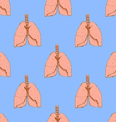 Sketch lungs in vintage style vector image