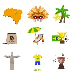 Traditional brasilian symbols vector