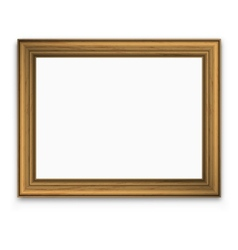 Vintage gold picture frame vector