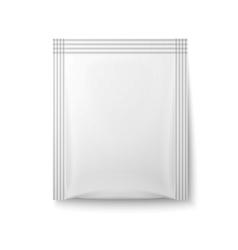 White paper sachet bag vector image