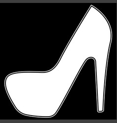 woman shoes the white color icon vector image vector image