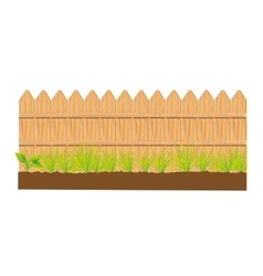 wooden fence sign isolated vector image vector image