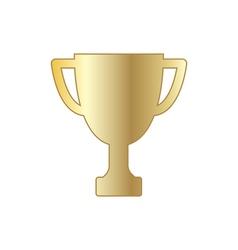 Gold winner trophy cup vector